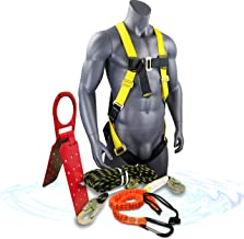 KwikSafety (Charlotte, NC) GATOR KIT |Temporary Reusable Roof Anchor, 50' Vertical Lifeline Rope 1D Ring Full Body Safety ...