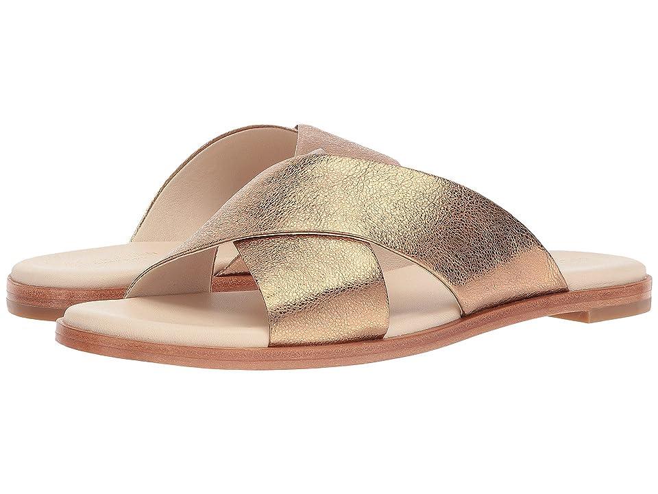 da46c3cd2 Cole Haan Anica Crisscross Sandal (Gold Glitter Metallic) Women
