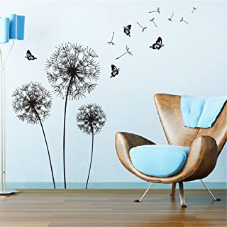 Amazon Brand - Solimo Wall Sticker for Living Room (Amazing Dandelion Design ), Ideal Size on Wall: 130 x 130 cm