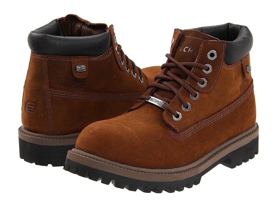 SKECHERS Verdict (Dark Brown) Men's Lace-up Boots