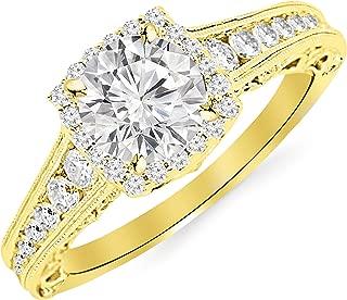 moissanite to diamond size