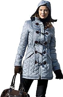 Four Seasons Chaqueta de mujer invierno acolchada con capucha desmontable.