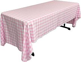 """مفرش سرير ال ايه كتان بتصميم مربعات , 60 من 120 انش, مرجاني 60"""" X 120"""" TCcheck60x120Pink"""