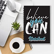 "Notebook with the theme: ""Believe you can"". A special notebook with a positive attitude, encouraging you to keep a journal and make a daily plan. Black cover, stylish writing. Size: 6*9, 200 pages."