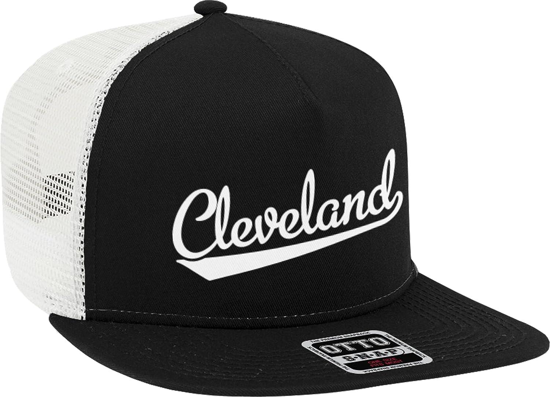 NOFO Clothing Co Cleveland Script Baseball Font Snapback Trucker Hat