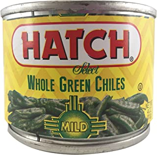 Hatch Whole Green Chiles, Mild, 4 Ounce (Pack of 12)