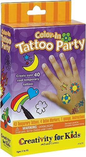 hermoso Faber-Castell Faber-Castell Faber-Castell Color In Tattoo Party (tatuajes temporales)  nueva marca