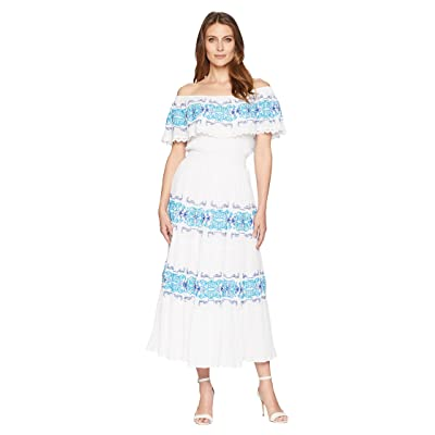 CATHERINE Catherine Malandrino Charise Dress (White/Blue) Women