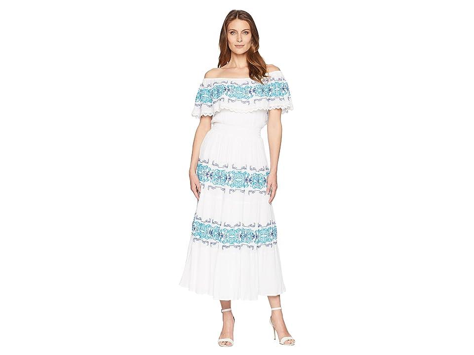 CATHERINE Catherine Malandrino Charise Dress (White/Blue) Women