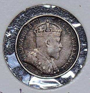 1909 CA 190318 Canada 5 Cents vintage silver DE PO-01
