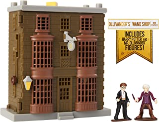 HARRY POTTER Ollivander's Wand Shop Mini Playset, Includes HP and Mr. Ollivander Figures! with 3 Magical Features