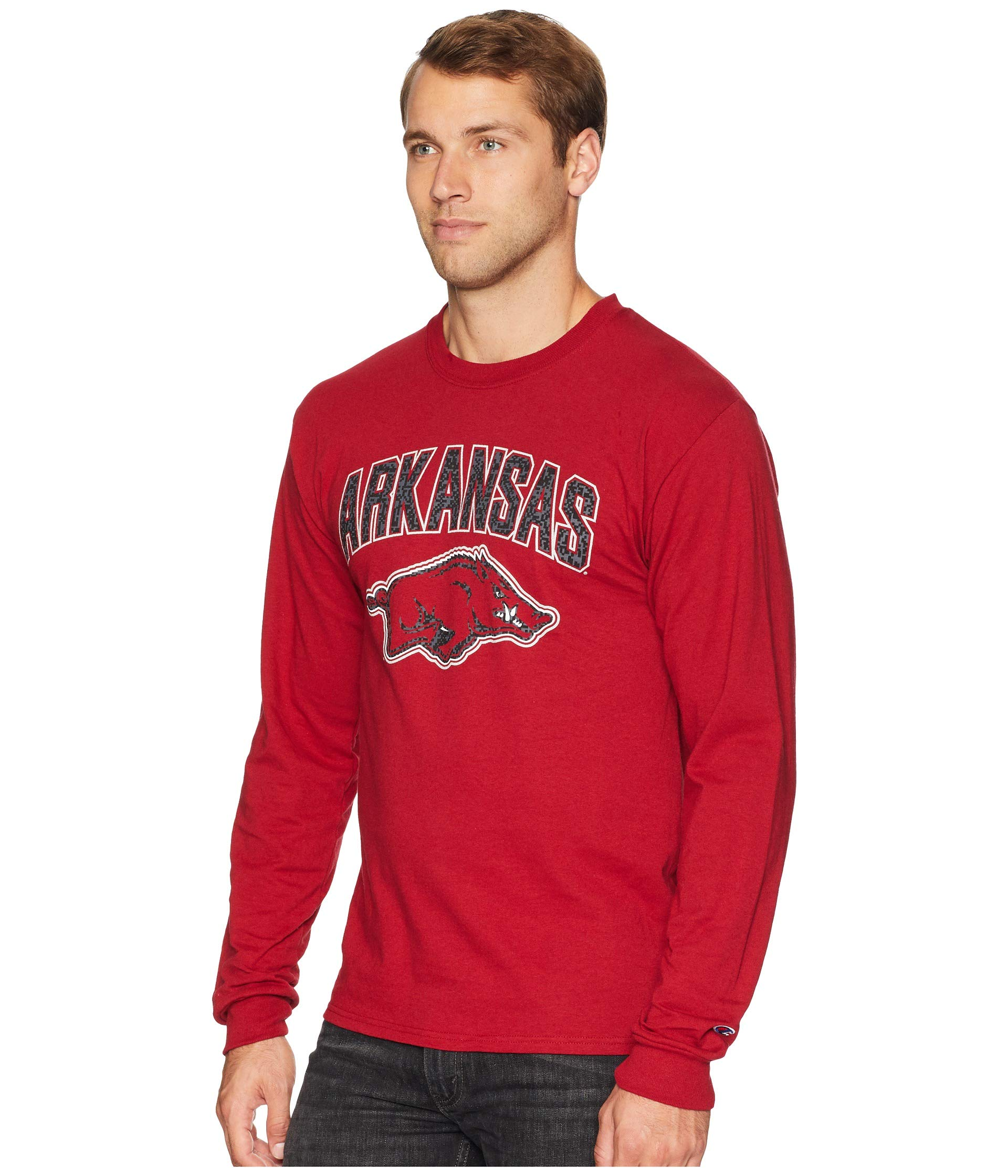 College Jersey Sleeve Cardinal Arkansas Tee Champion Long Razorbacks 7fx8qBBO