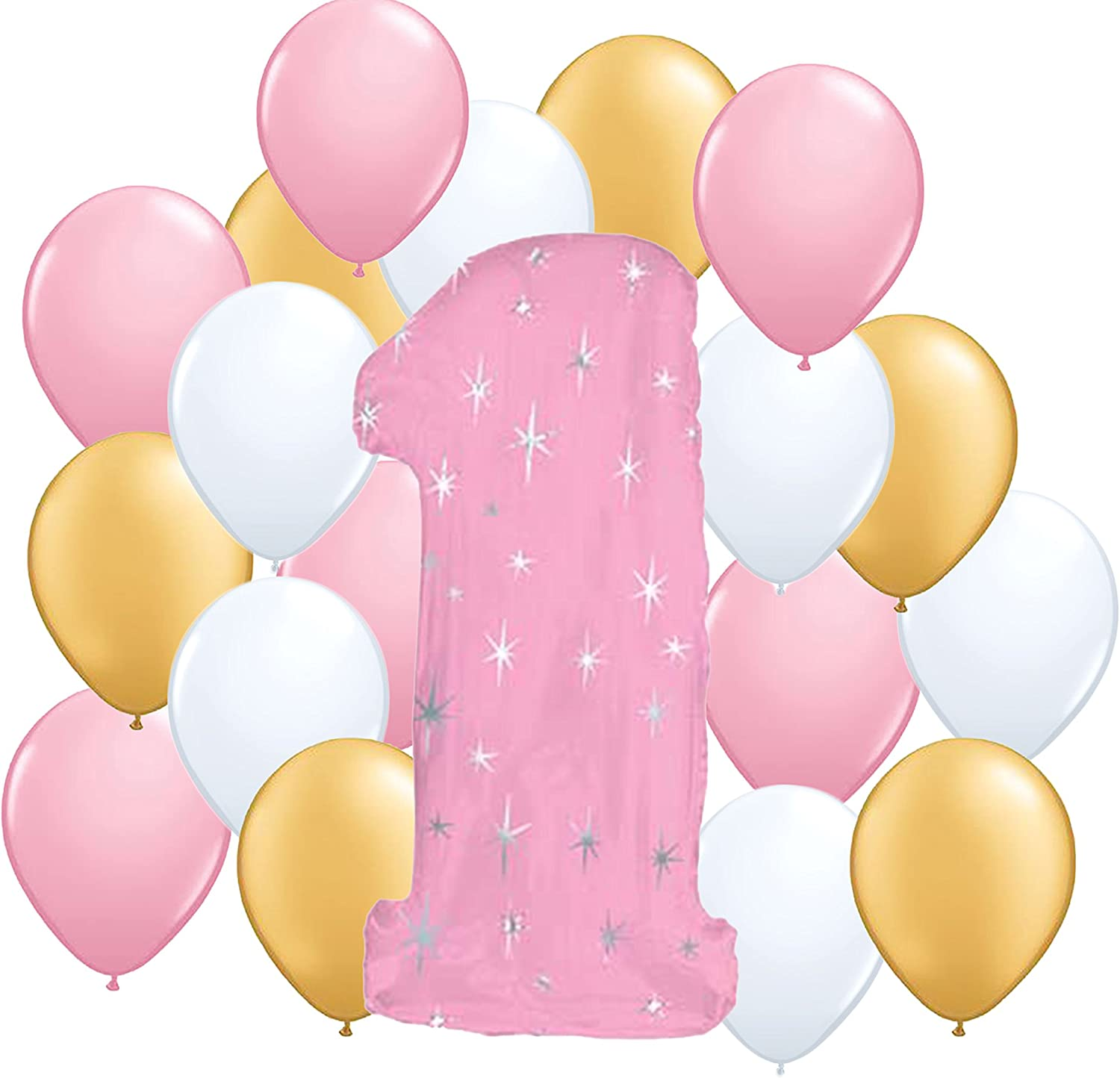 Fun to be One Girl 1st Birthday Party Balloon Kit by anagarm