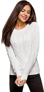 oodji Ultra Women's Textured Knit Cotton Pullover