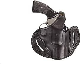 Pusat Revolver Rossi Model 712-742-971-972 Series 357 Magnum Leather OWB 2½ Barrel-inch 5-6 Shot Holster Handcrafted Black-Brown