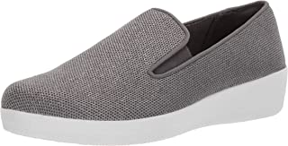 FITFLOP Womens L79 Superskate Uberknit Loafers Grey Size: