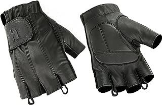 Hugger Affordable Men's Gel Padded Palm Fingerless Motorcycle Gloves