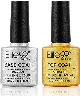 Elite99 No Wipe Top Coat Base Coat Gel polish Soak Off UV LED Gel Nail Polish Lacquer 10ml Clear