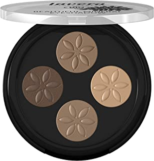 Lavera Beautiful Mineral Eyeshadow - Quattro, Four Talc-Free, Crease Resistant Eye shadow, Long Lasting Intense Color, Veg...