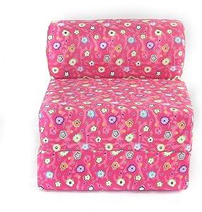"American Furniture Alliance Children's Studio Chair Sleeper Jr. Twin 24"", Pink Flower"