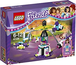 LEGO Friends - Parque de Atracciones, Viaje Espacial, Juguete de Construcción con Atracción de Feria Giratoria y Figura de Olivia (41128)