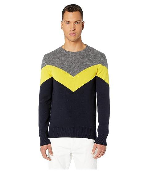 eleventy Diagonal Stripe Cashmere Sweater