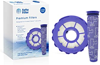 Fette Filter - HEPA Post-Motor Filter & Pre-Motor Filter Compatible with Dyson DC40. for Animal, Multi Floor, Origin and Total Clean Vacuums. Compare to Part # 923587-02 & 922676-01 - Combo Pack
