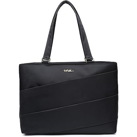 Voovc Environmental Protection Easter Women Canvas Flower Laptop Tote Bag Fits 15.6 Computer Handbag Purse Shoulder Bag for Work Travel