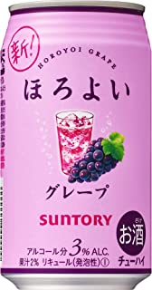 Suntory Horoyoi Red Grape Drink, 350 ml (Pack of 24)