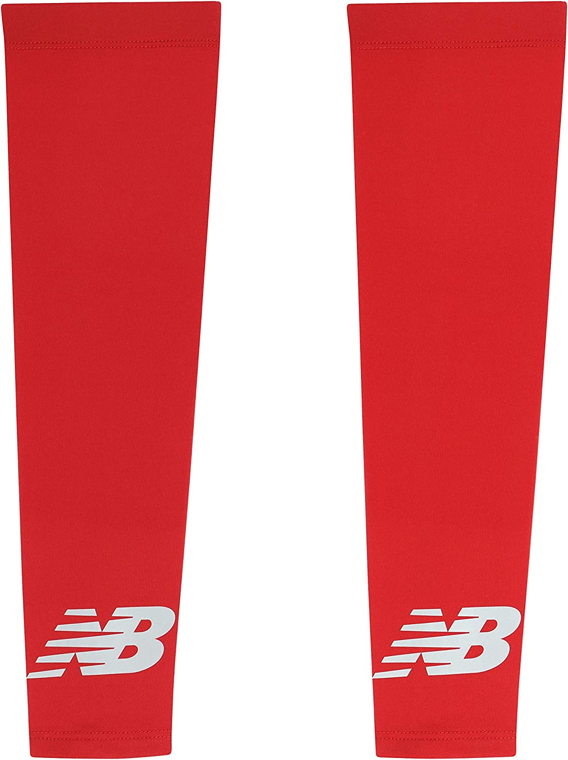 New Balance Unisex Outdoor Sports Compression Arm Sleeves, Arm Warmer, Black and White (1 Pair) : Clothing