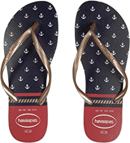 Slim Nautical Flip-Flops