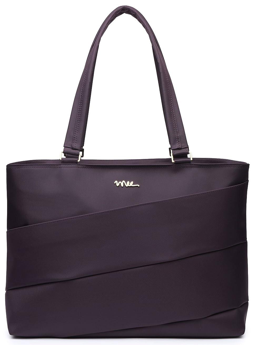 NNEE 15 15.6 Inch Water Resistance Nylon Laptop Tote Bag Notebook Computer Work Handbag Travel Carrying Bag - Purple