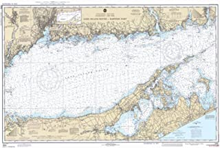 Map - Long Island Sound - Eastern Part, 1980 Nautical NOAA Chart - Connecticut, New York (CT, NY) - Vintage Wall Art - 58in x 36in