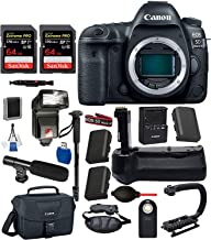 Canon EOS 5D Mark IV Digital SLR Full Frame Camera Body Only USA (Black) 19PC Professional Bundle Package Deal –Professional Battery Grip + SanDisk Extreme pro 64gb SD Card (2 Count) + Canon Shoulder