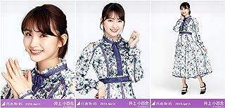 乃木坂46 WebShop限定 2019年4月度月間ランダム生写真 スペシャル衣装18 3種コンプ 井上小百合