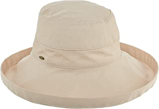 SCALA Women's Cotton Big Brim Hat with Inner Drawstring & UPF 50+ Rating