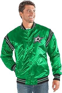 Starter Adult Men The Enforcer Satin Jacket, Green, Large