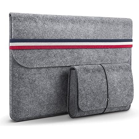HOMIEE 13.3 Pouces Housse protectrice en Feutre pour Ultra-Mince MacBook Pro Retina, MacBook Air, iPad Pro 32.5 cm, Dell/Lenovo/HP/Chormebook Ultra Slim Notebook/Bleu Blanc Rouge