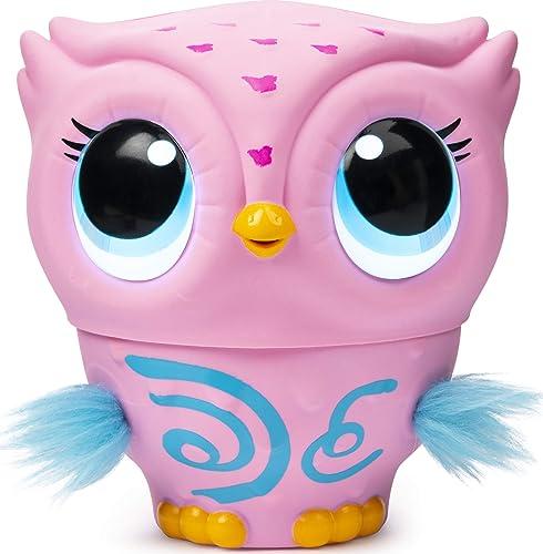 Owleez - 6053359 - Jouet enfant - Animal volant interactif - Rose
