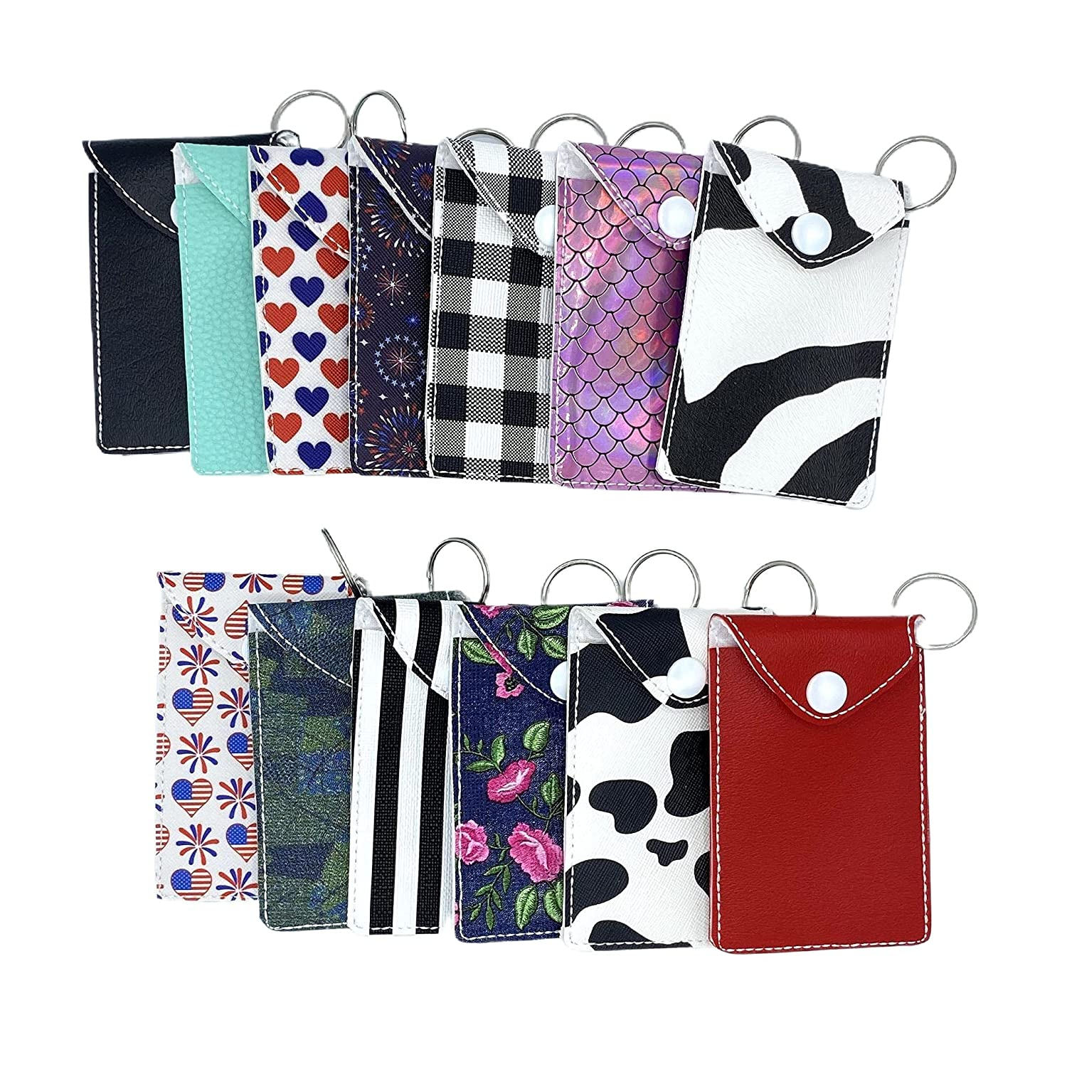 Purchase Faux Leather Ranking TOP4 Business Card Credit with ID Keychain Holder