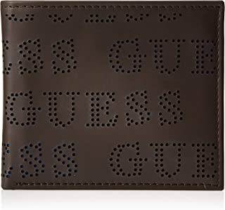 Guess Mens Global Passcase Wallet, Brown, One Size - 31GUE22089