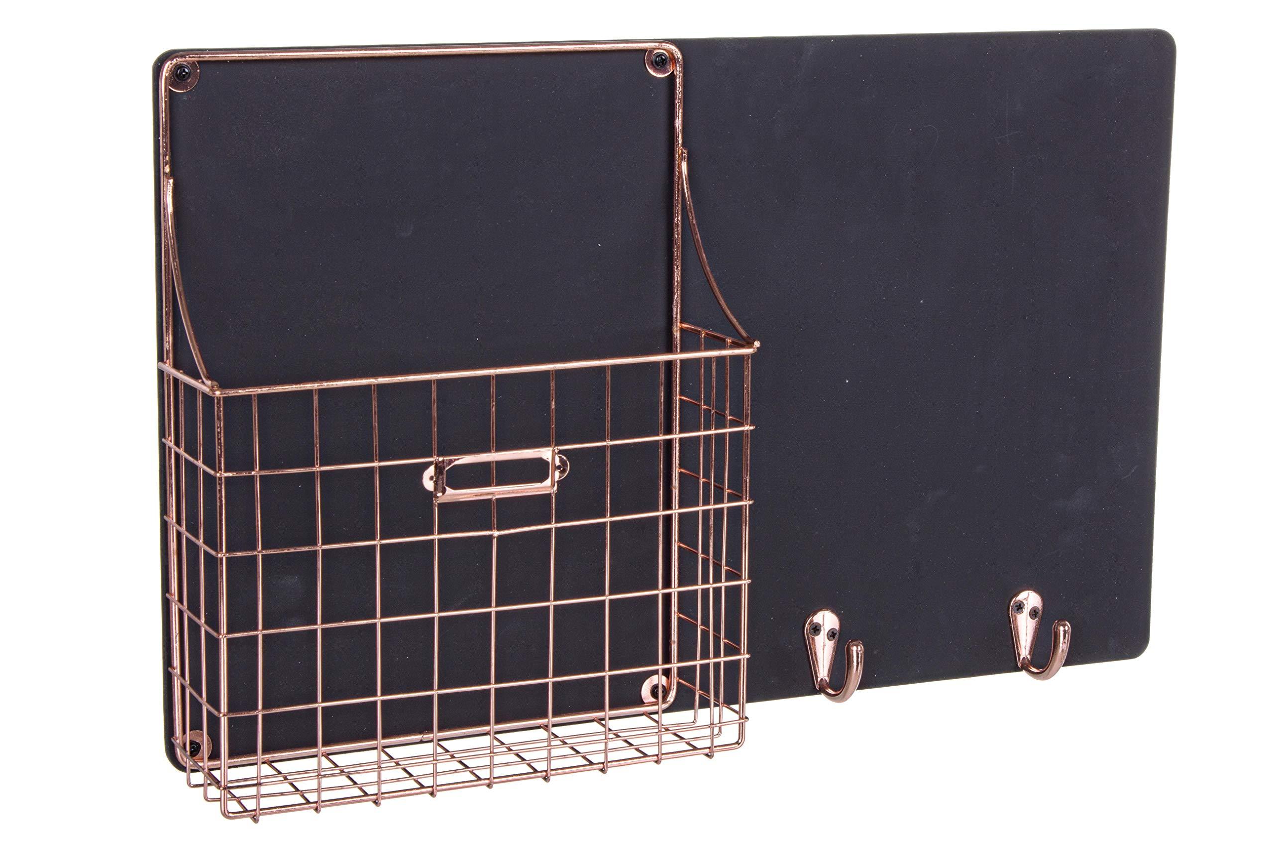 Vilys House Pizarra para Mensajes y Porta Cartas con 2 Ganchos para fijación a Pared 45x28 cms: Amazon.es: Hogar