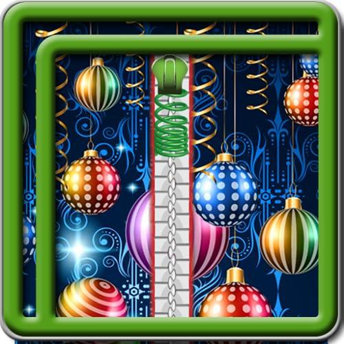 Zipper Lock Screen des neuen Jahres