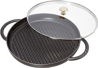 STAUB Cast Iron Round Steam Grill, 12-inch, Black Matte