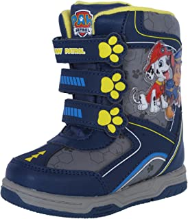 Josmo Paw Patrol Boy's Snow Boots with Easy Straps Closure (Toddler, Little Kid)