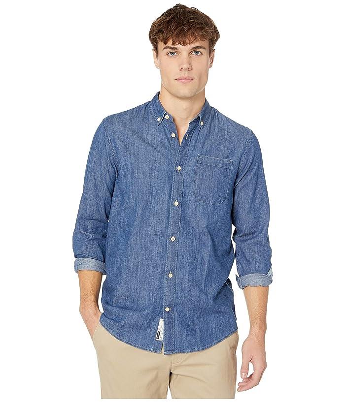 Men's Vintage Workwear – 1920s, 1930s, 1940s, 1950s Scotch  Soda Regular Fit Button Down Denim Blue Mens Clothing $72.00 AT vintagedancer.com