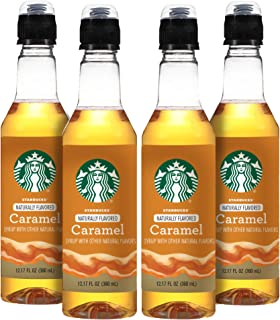 Starbucks Naturally Flavored Coffee Syrup, Caramel, Pack of 4