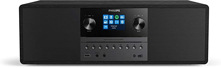 Philips Audio M6805/10 Mini Chaîne Hi-FI CD, USB, Bluetooth (Radio Internet Dab+/FM, Spotify Connect, CD-MP3, 50 W, Entrée...