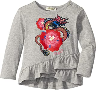 Baby Girl's Dragon and Flower Ruffled T-Shirt (Infant)