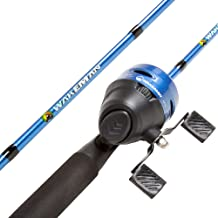 Wakeman Outdoors Fishing Pole – 64-Inch Fiberglass and Stainless Steel Rod and Pre-Spooled Reel Combo for Lake, Pond and Stream Casting